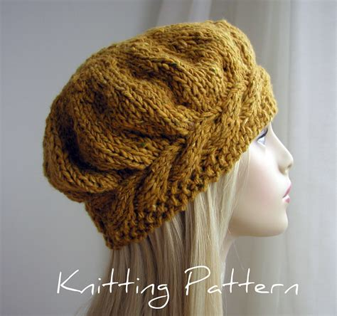 free hat knitting patterns free knitted beret patterns catalog of patterns