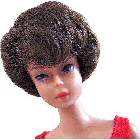 bubble cut brunette bubble cut barbie doll in original swimsuit and
