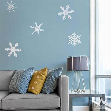 snowflake bedroom peel and stick reindeer dress up wall decal christmas