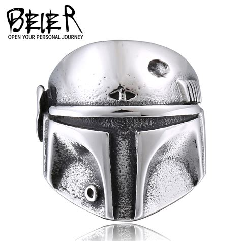 Cincin Beier Stainless Stell Domineering beier wars clone trooper ring stainless steel new designed jewelry unique gift for