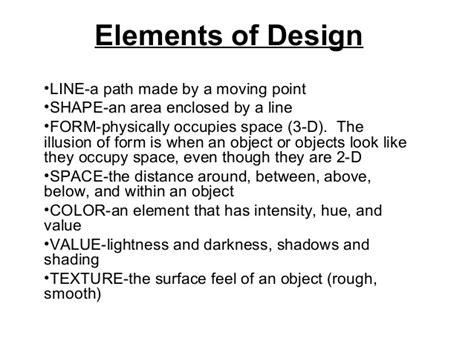 elements of interior design slideshare elements of design