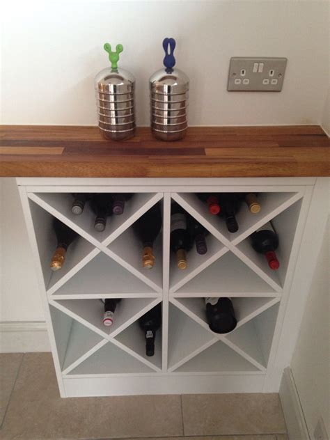 diy wine rack       side