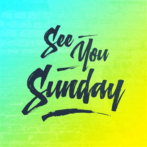 See You see you sunday sunday social