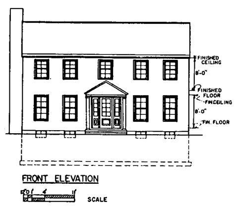 free colonial house plans floor plan simple rectangle