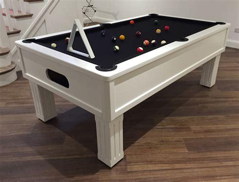 emperor white black cloth modern bespoke uk pool tables