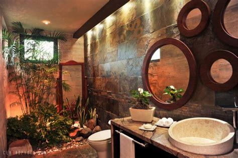 relaxing tropical bathroom designs   summer
