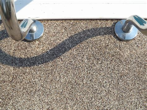 Rubberized Deck Coating by In Ground Pools Concrete Deck Ideas