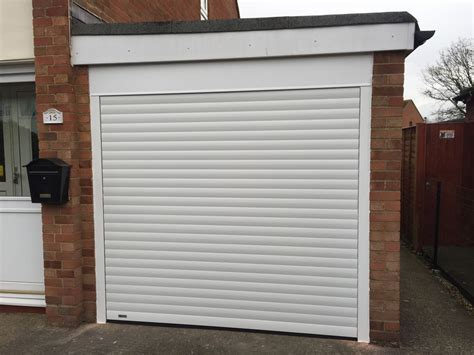 Rolling Garage Door White Roller Garage Door In Thame Shutter Spec Security