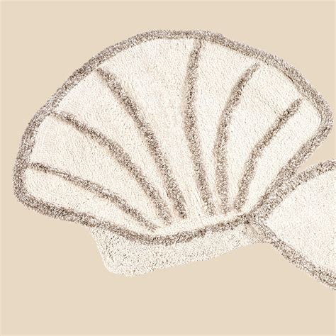Seashell Bath Rug Scallop Shell Bath Rug