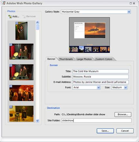 dreamweaver tutorial gallery how to fix a photoshop web photo gallery in dreamweaver