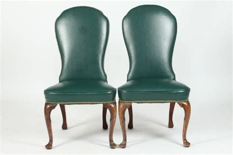 Green Upholstered Dining Chairs Four Green Faux Ostrich Upholstered Dining Chairs In The Que