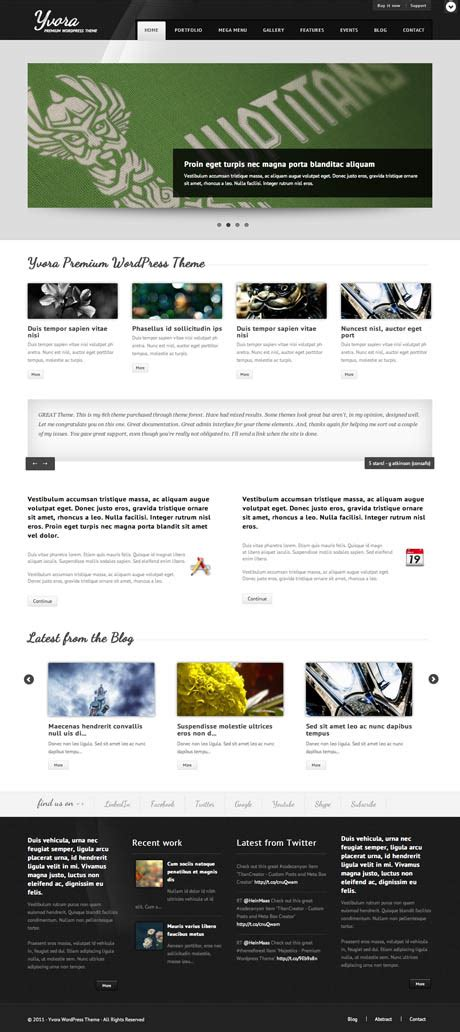 themeforest wordpress theme tutorial yvora wordpress theme by themeforest great wordpress