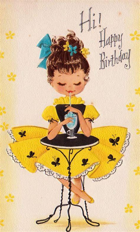 Images Vintage Birthday Cards Vintage 1960 Hi Happy Birthday Greetings Card B2