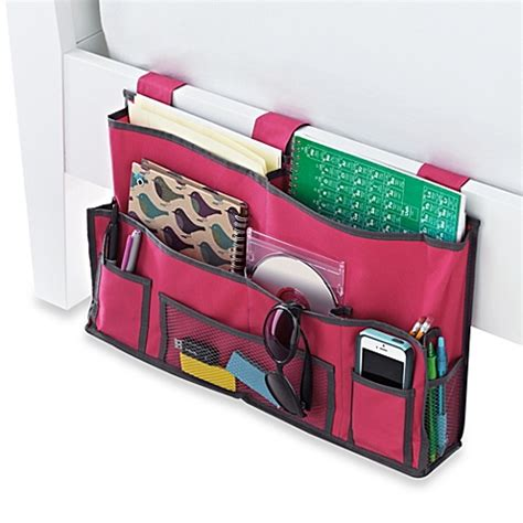 bed organizer bedside storage caddy bed bath beyond