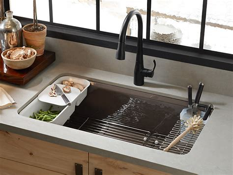 Kitchen Sink Accessory K 5871 5ua3 Riverby Mount Kitchen Sink With Accessories Kohler