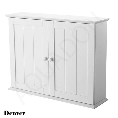white wood wall cabinet with bathroom cloakroom wall mirror storage cabinets cupboard wood mdf gloss white ebay