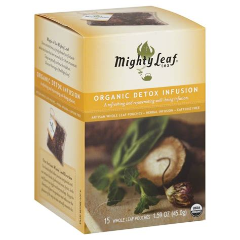Organic Leaf Detox Tea by Mighty Leaf Tea Organic Detox Infusion Herbal Tea 15