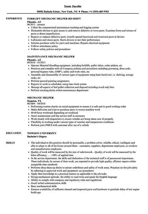 Resume Template Helper by Helper Resume Sle Sanitizeuv Sle Resume And