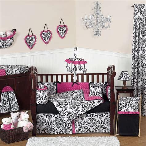Black White And Pink Crib Bedding Baby Nursery In Pink Black And White With Skulls Pink Black And White Baby