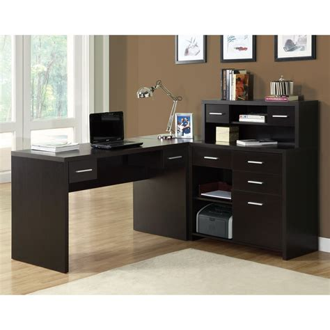 monarch specialties    shaped home office desk lowes canada