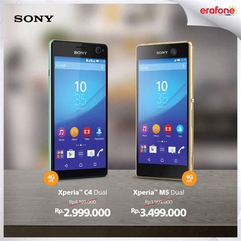 Hp Sony Promo promo erafone untuk sony xperia c4 dual dan m5 dual katalog harga murah
