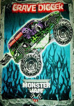 grave digger truck fabric jam trucks single bed quilt doona duvet cover