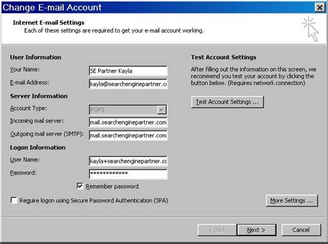 email yahoo outlook setup outlook email settings for outlook 2013