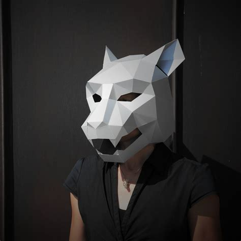 how to make a jaguar mask jaguar mask build your own from card using our polygon mask