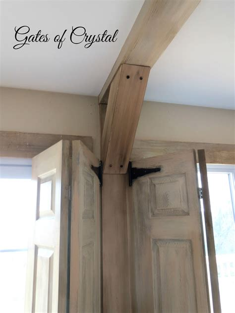 faux beams gates of how to make faux beams