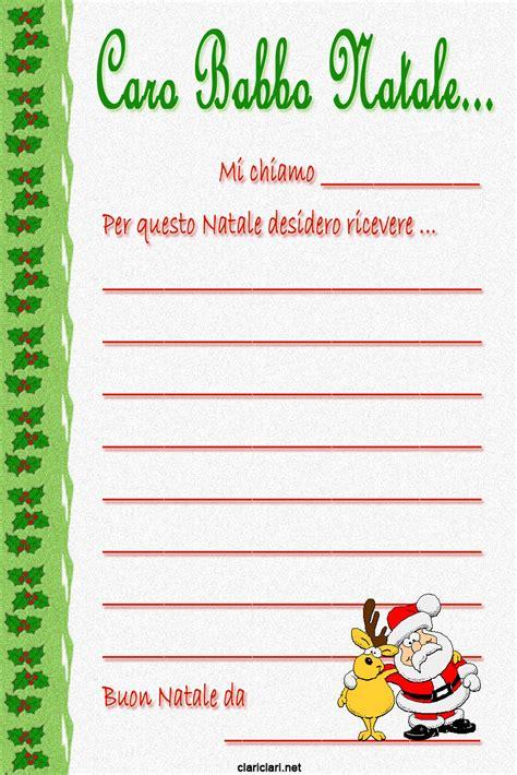 lettere natalizie clariclari lettere per babbo natale