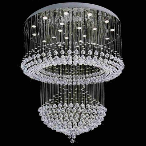 Brizzo Lighting Stores 42 Quot Chateaux Modern Foyer Crystal Chandelier Base
