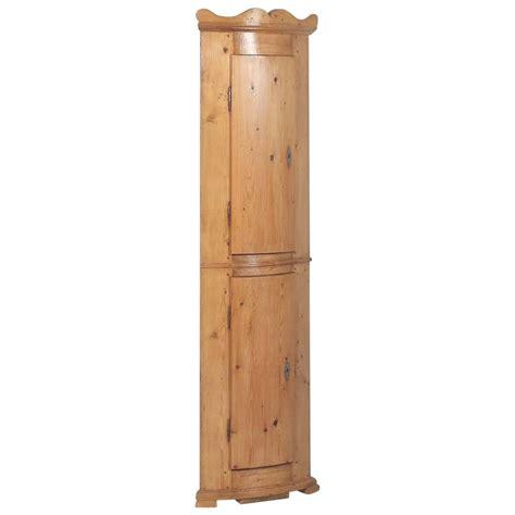 Narrow Corner Cabinet Antique Pine Bowed Front Narrow Corner Cabinet From