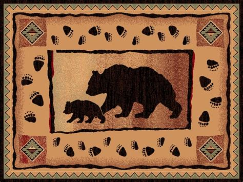 western themed rugs lodge and baby western themed area rug 4x6 ebay
