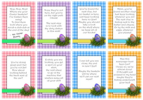 8 best images of printable scavenger hunt cards