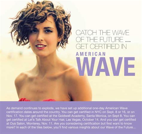 arrho american wave perm new american wave certification dates