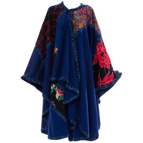 Patchwork Cloak - koos den akker royal blue cloak with floral quilted