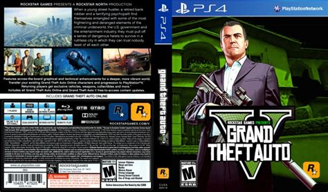 grand theft auto v playstation 4 box art cover by ckmacca96