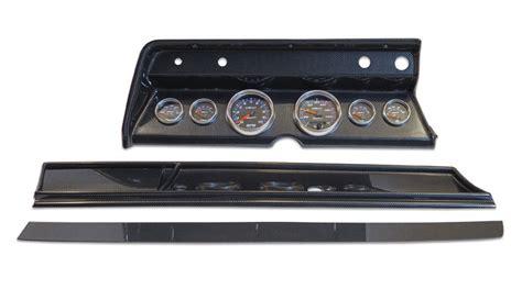 Ct 66 Dash Rockman Dash 1966 chevelle 6 panel carbon fiber with auto meter