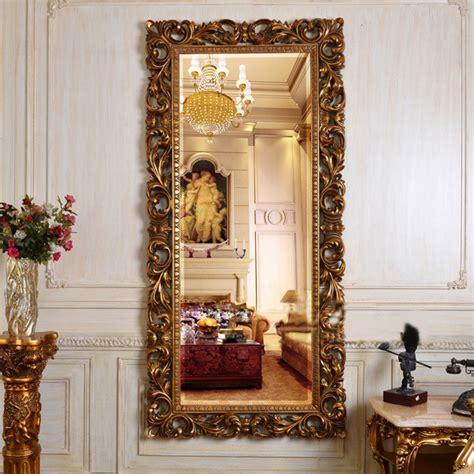 Luxury Wall Decor European Antique Refined Mirror Luxury Golden Frame Decor