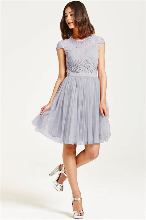 grey beaded dress grey beaded prom dress from uk