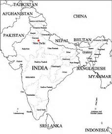 Outline Map Of Indian Subcontinent by Ancient India Home