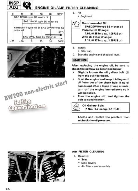 yamaha motorcycle wiring diagrams free bw350t diagram