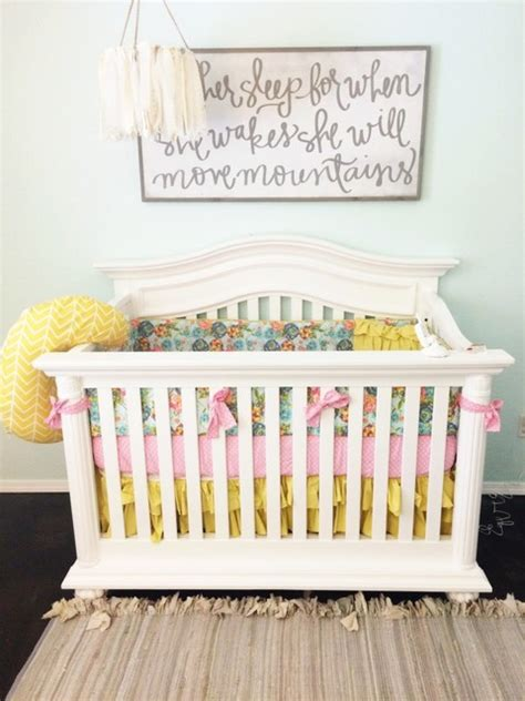 Pink And Yellow Crib Bedding Turquoise Pink And Yellow Bedding Set