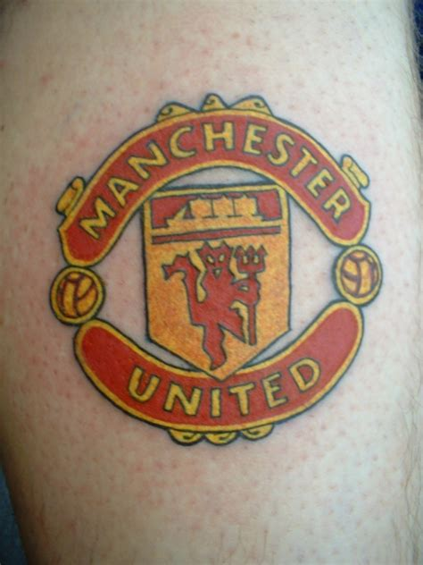 tattoo cost liverpool manchester united badge tattoo