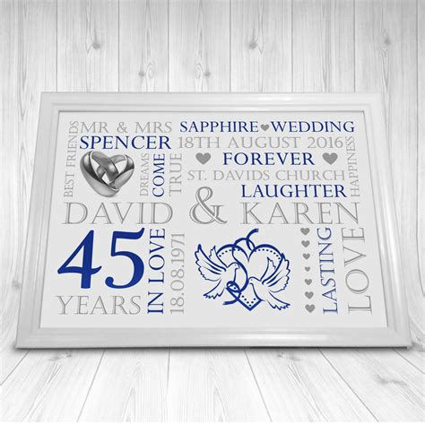 45th wedding anniversary gift ideas lamoureph