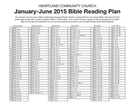 Galerry printable 6 month bible reading plan