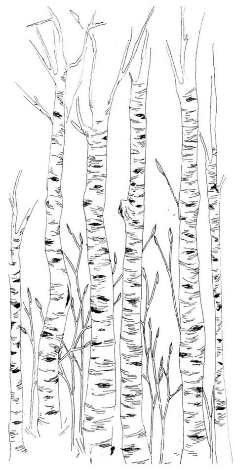 birch trees design etsy items similar to birch trees illustration on etsy
