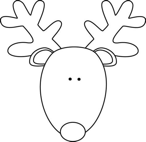 clip art black and white black and white reindeer head