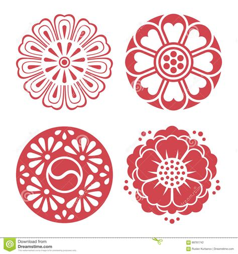 Traditional Design Elements Vector | korean traditional design elements stock vector image