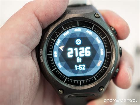 Casio S casio s wsd f10 android wear smartwatch is rugged like